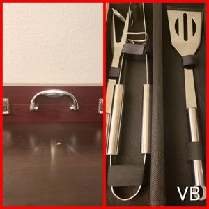 Berghoff 3pc BBQ Set With Case Brand New.